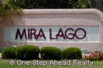 Mira Lago community sign